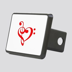 TREBLE MUSIC HEART Hitch Cover
