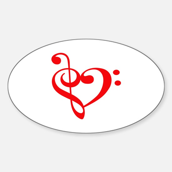 TREBLE MUSIC HEART Decal