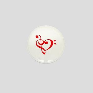TREBLE MUSIC HEART Mini Button