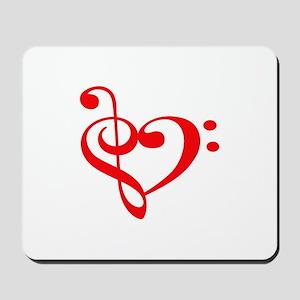 TREBLE MUSIC HEART Mousepad
