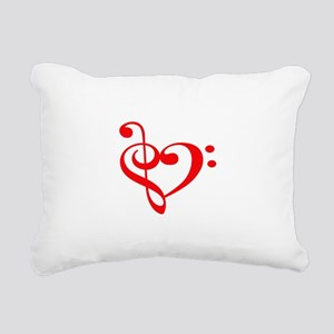TREBLE MUSIC HEART Rectangular Canvas Pillow