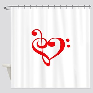 TREBLE MUSIC HEART Shower Curtain