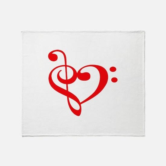 TREBLE MUSIC HEART Throw Blanket