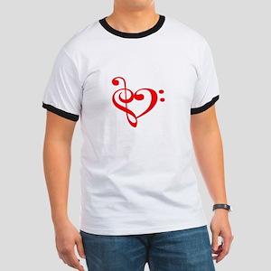 TREBLE MUSIC HEART T-Shirt