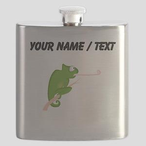 Custom Cartoon Chameleon Flask
