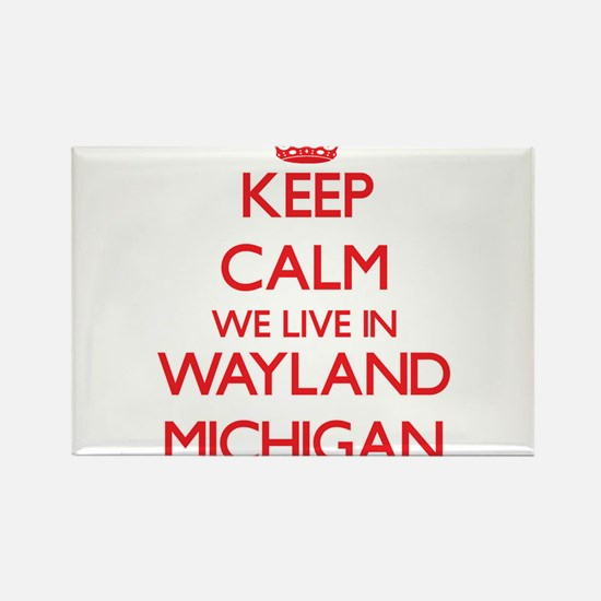 Keep calm we live in Wayland Michigan Magnets