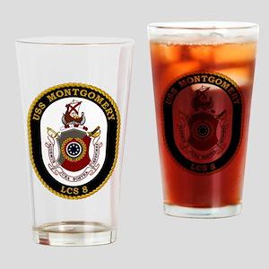 USS Montgomery LCS-8 Drinking Glass