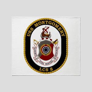 USS Montgomery LCS-8 Throw Blanket