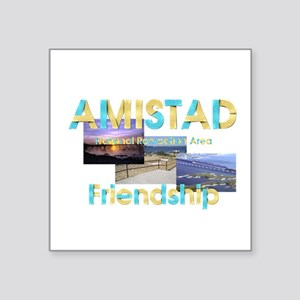 "Amistad NRA Square Sticker 3"" x 3"""