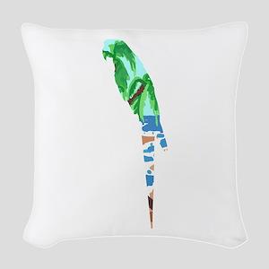 PARROT BEACH Woven Throw Pillow