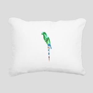 PARROT BEACH Rectangular Canvas Pillow