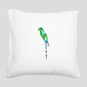 PARROT BEACH Square Canvas Pillow