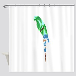 PARROT BEACH Shower Curtain