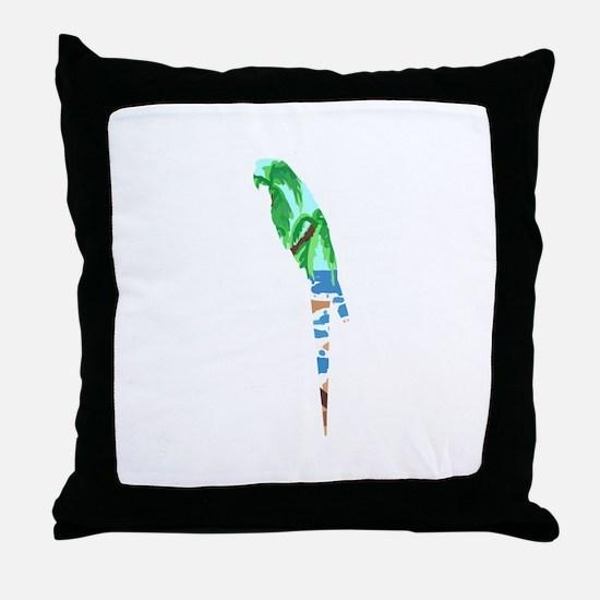 PARROT BEACH Throw Pillow