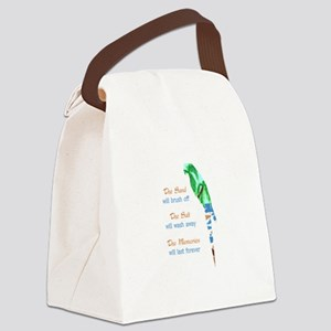 SAND SALT AND MEMORIES Canvas Lunch Bag