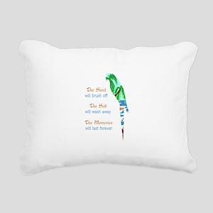 SAND SALT AND MEMORIES Rectangular Canvas Pillow