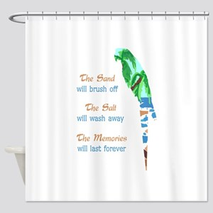 SAND SALT AND MEMORIES Shower Curtain