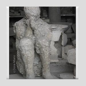 Italy Pompeii volcanic death Tile Coaster