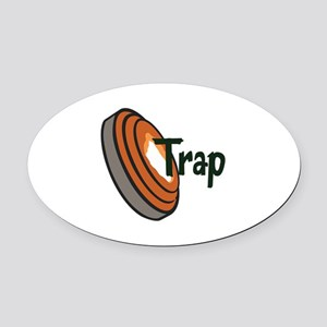 TRAP SHOOTING Oval Car Magnet