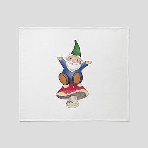 GNOME ON MUSHROOM Throw Blanket