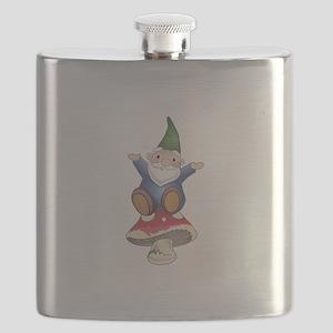 GNOME ON MUSHROOM Flask