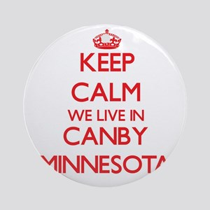 Keep calm we live in Canby Minnes Ornament (Round)