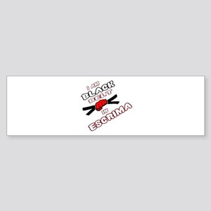 I am Black Belt in Escrima Sticker (Bumper)