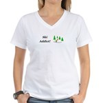 Ski Addict Women's V-Neck T-Shirt