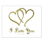 Entwined Gold Hearts Posters