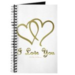 Entwined Gold Hearts Journal