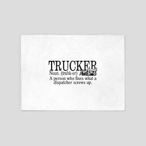 Trucker Definition 5'x7'Area Rug