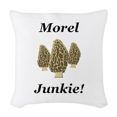 Morel Junkie Woven Throw Pillow