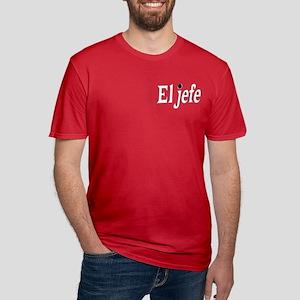 El Jefe The Boss Men's Fitted T-Shirt (dark)