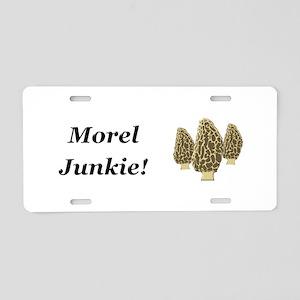 Morel Junkie Aluminum License Plate