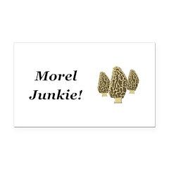 Morel Junkie Rectangle Car Magnet