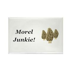Morel Junkie Rectangle Magnet (100 pack)