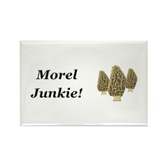 Morel Junkie Rectangle Magnet (100 pack)