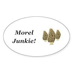 Morel Junkie Sticker (Oval 10 pk)