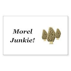 Morel Junkie Sticker (Rectangle 50 pk)