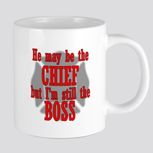 He's Chief I'm still Boss Mugs