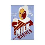 MILK WOMAN fridge magnet