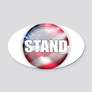 Stand for the Anthem Oval Car Magnet
