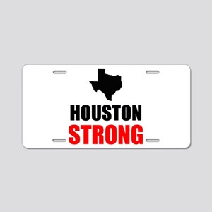 Houston Strong Aluminum License Plate