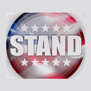 Stand for the Anthem Throw Blanket