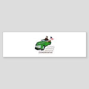 REDNECK CONSERVATIVE Bumper Sticker