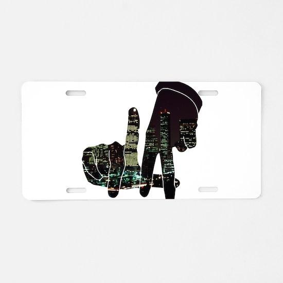 black hands Aluminum License Plate