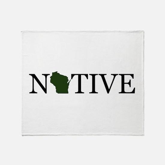 Native - Wisconsin Throw Blanket