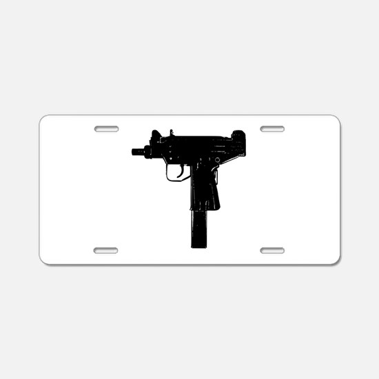 Uzi Aluminum License Plate