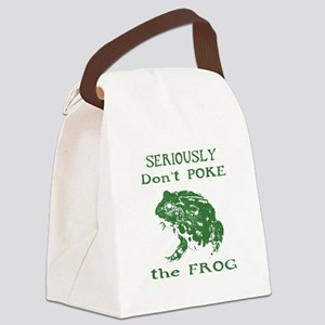 Don't poke the Frog Canvas Lunch Bag