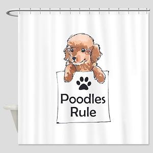 POODLES RULE Shower Curtain
